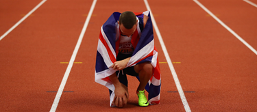 Richard Kilty celebrates European Indoor Gold  (Getty Images)