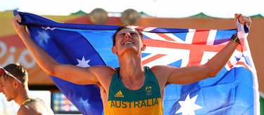 Dane Bird-Smith celebrates bronze in Rio (Getty Images)