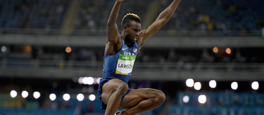 Jarrion Lawson competes in the long jump at the Rio Olympics (Getty Images)
