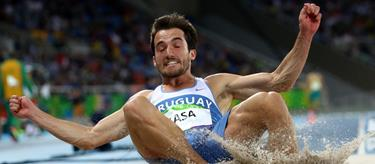 Emiliano Lasa competes at the 2016 Rio Olympics (Getty Images)