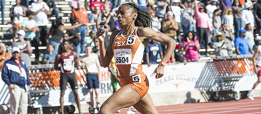 Courtney Okolo at the Texas Relays (University of Texas)