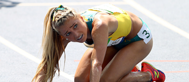Genevieve LaCaze competes in the steeplechase at the Rio Olympics ()