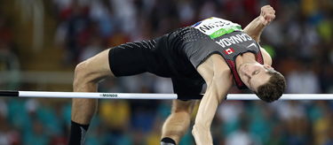 Derek Drouin competes in the high jump at the Rio Olympics (Getty Images)