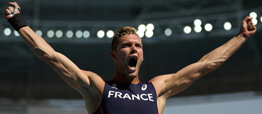 Kevin Mayer Celebrates Rio 2016 ()