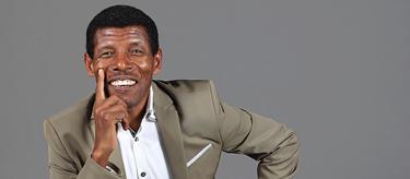 Haile Gebrselassie ahead of the 2016 IAAF Athletics Awards (Giancarlo Colombo)