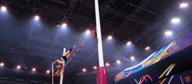 Sandi Morris at the World Indoor Championships in Birmingham (Getty Images)