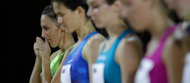 Gabriele Grunewald at the start line of the US Championships (Getty Images)