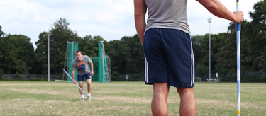 Gavin Johnson's javelin lesson (Natalya Paul)