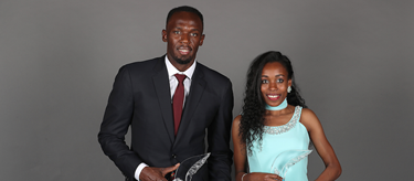 Usain Bolt and Almaz Ayana ()