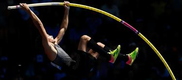 Armand Duplantis at the 2017 IAAF Diamond League in Eugene (Getty)